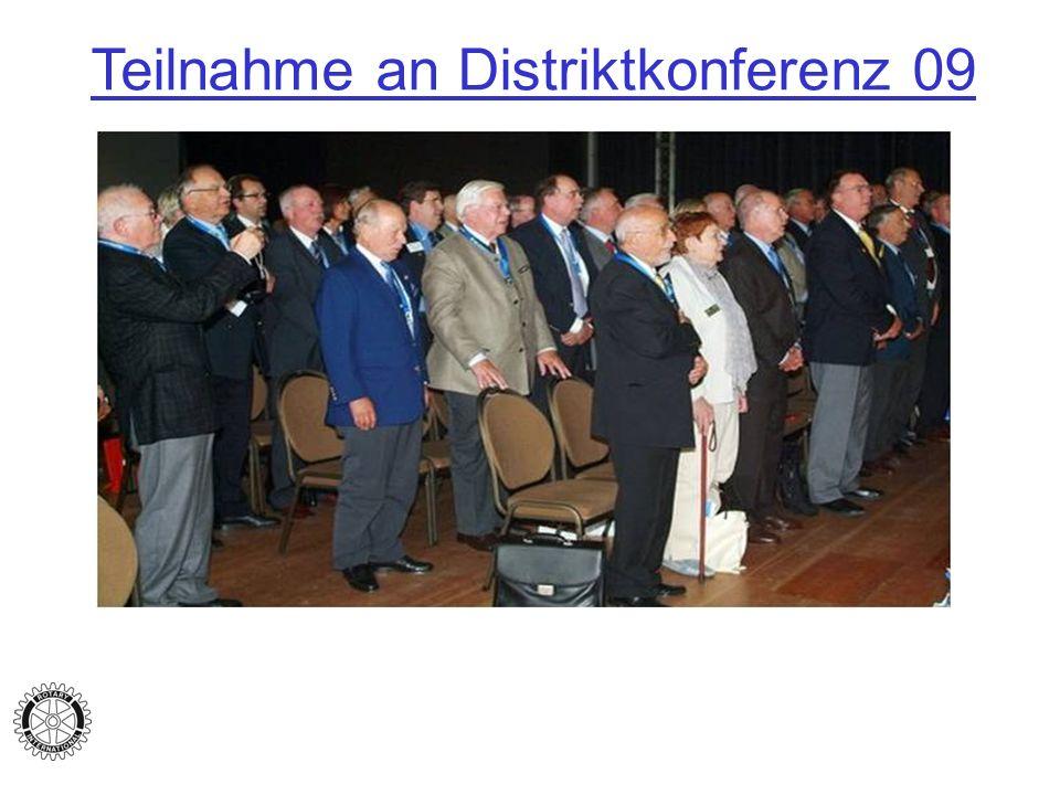 Teilnahme an Distriktkonferenz 09