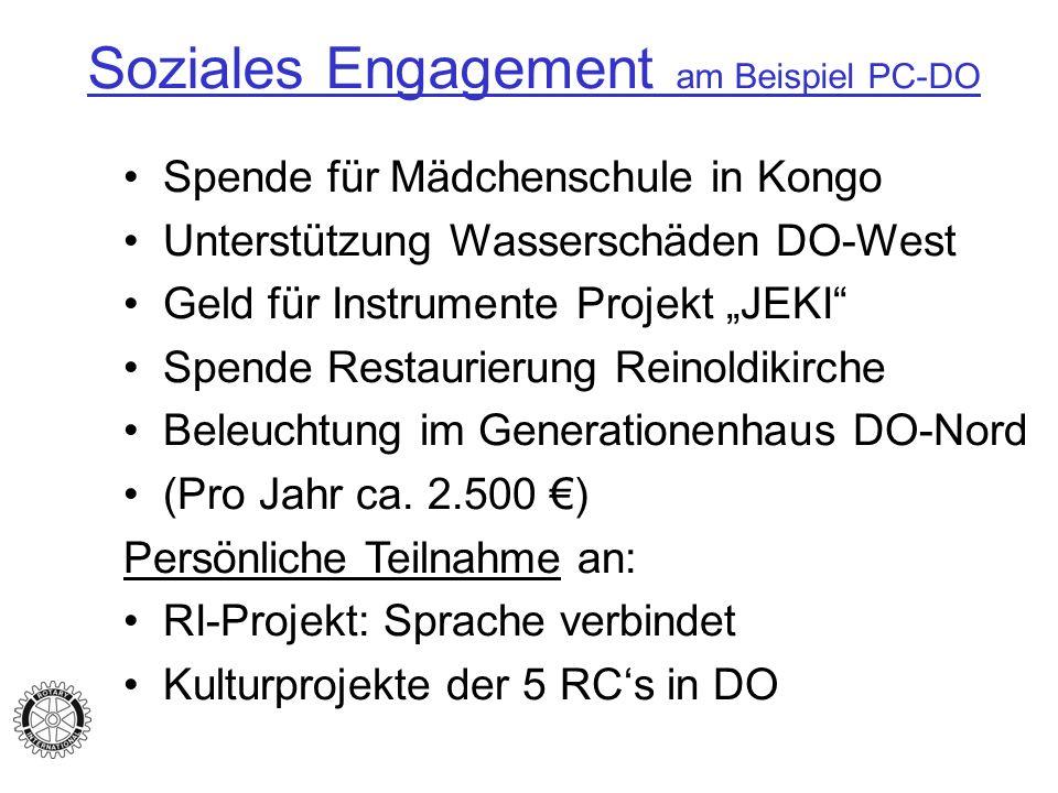 Soziales Engagement am Beispiel PC-DO