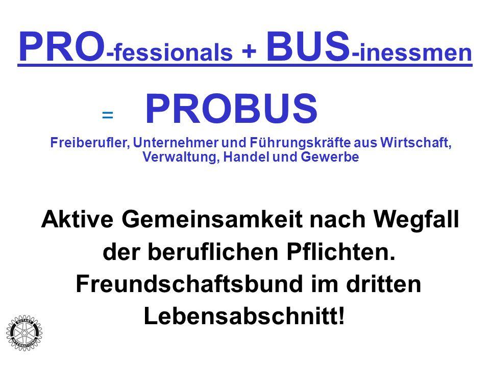 PRO-fessionals + BUS-inessmen