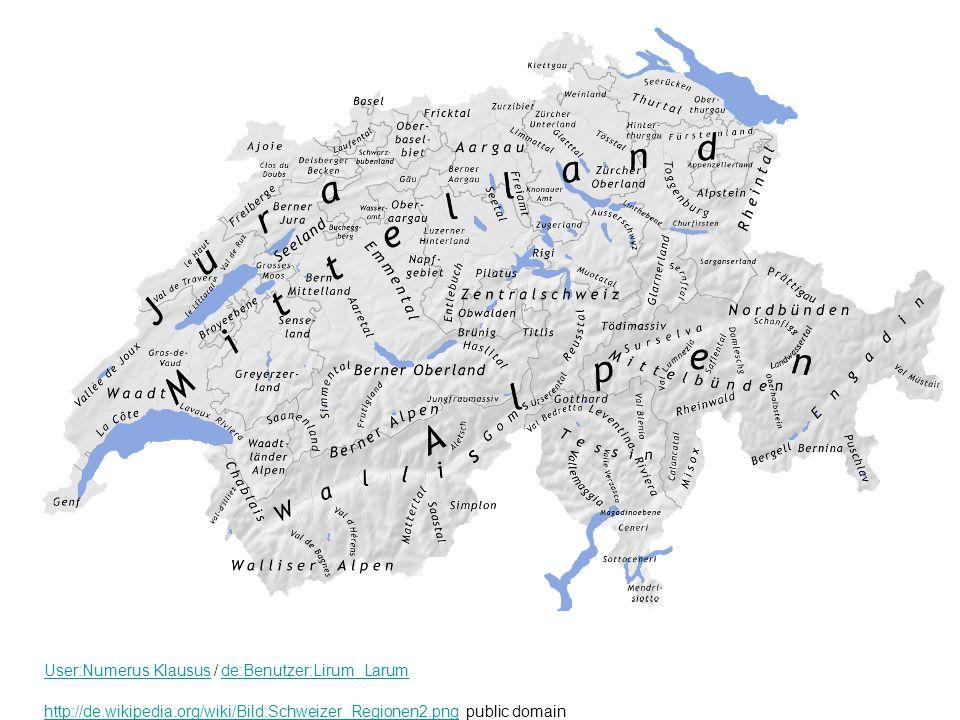 Die Schweiz gliedert sich in fünf geographische Räume, die klimatisch grosse Unterschiede aufweisen: den Jura, das Mittelland, die Voralpen, die Alpen und die Alpensüdseite.