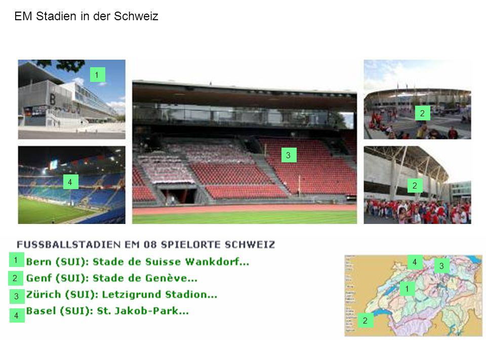 EM Stadien in der Schweiz