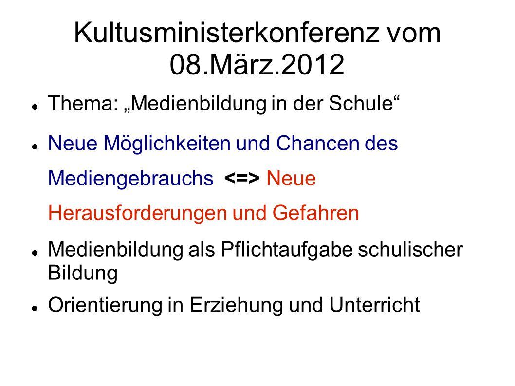 Kultusministerkonferenz vom 08.März.2012