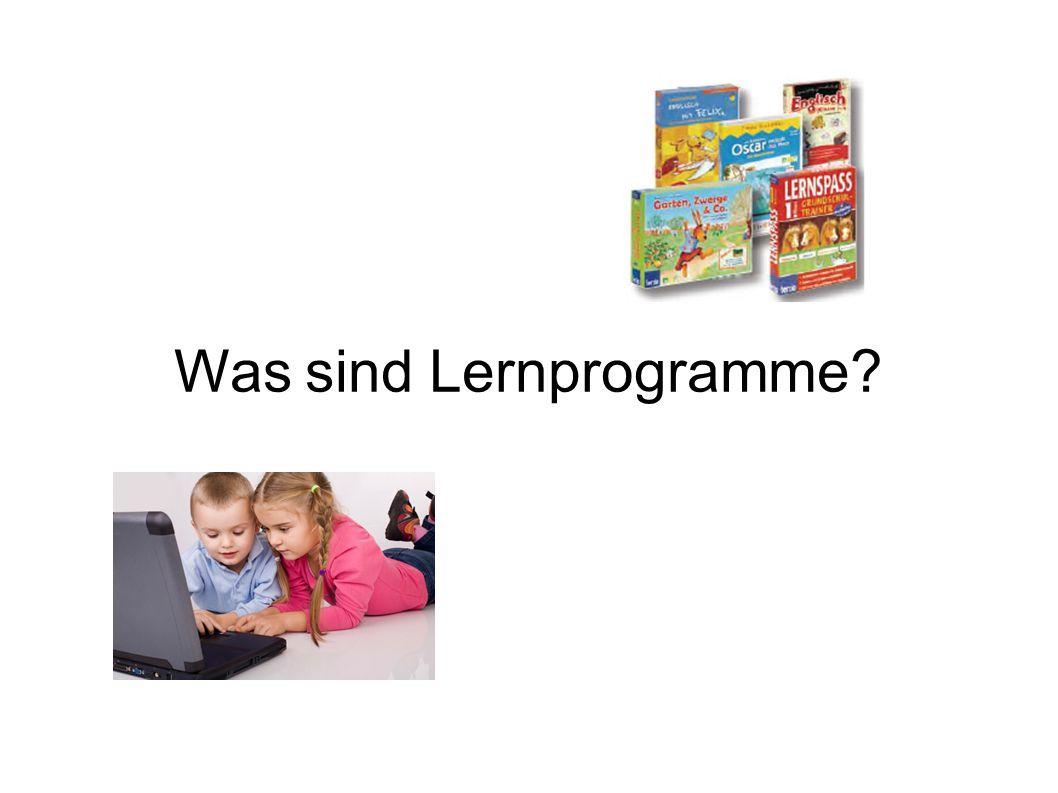 Was sind Lernprogramme