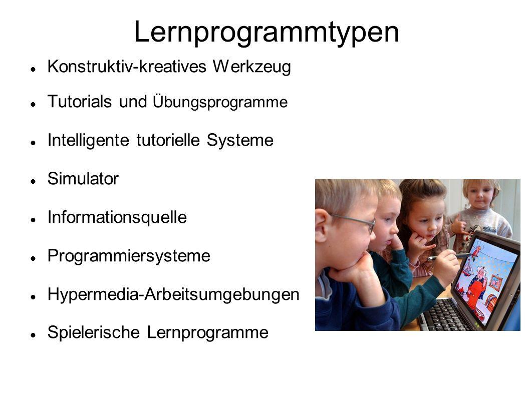 Lernprogrammtypen Konstruktiv-kreatives Werkzeug