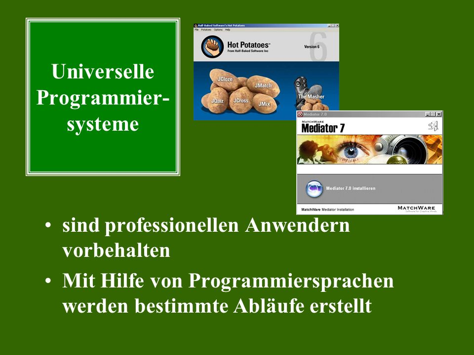 Universelle Programmier- systeme