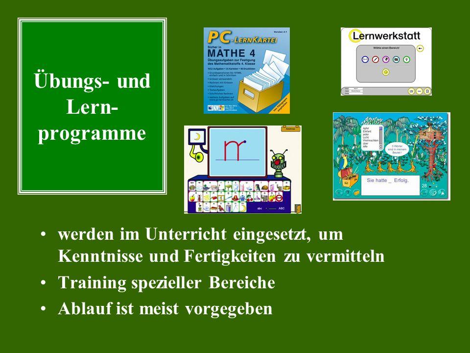Übungs- und Lern- programme