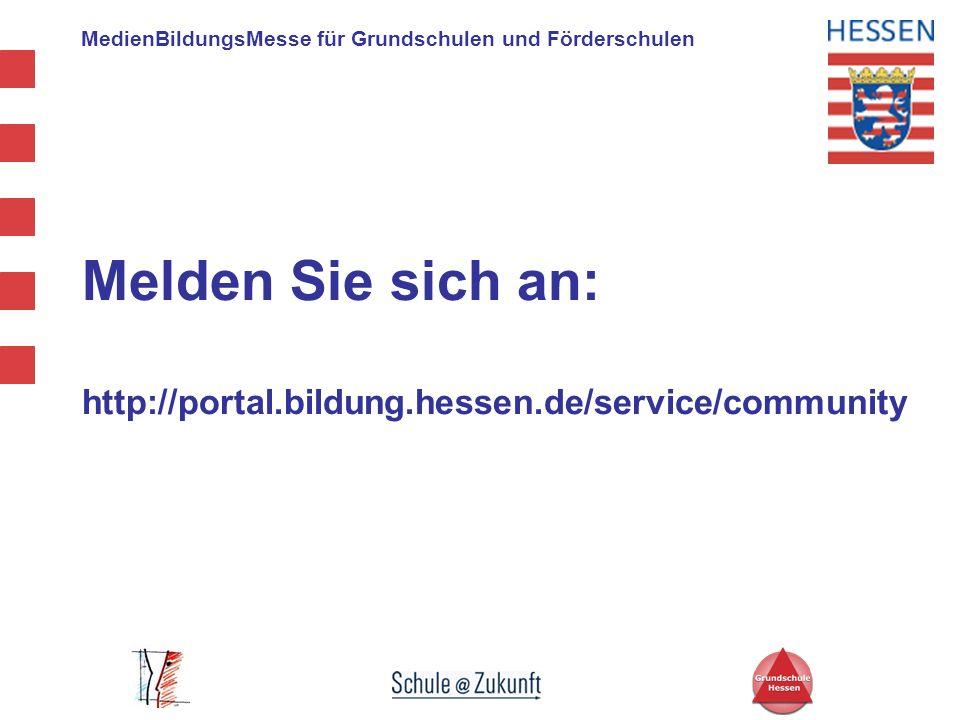Melden Sie sich an: http://portal.bildung.hessen.de/service/community