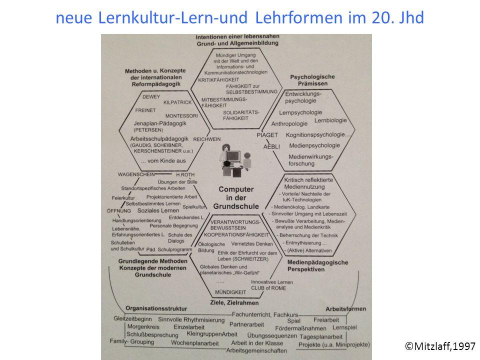 neue Lernkultur-Lern-und Lehrformen im 20. Jhd