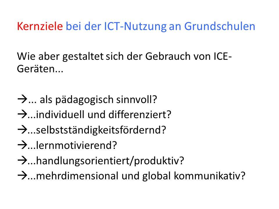 Kernziele bei der ICT-Nutzung an Grundschulen
