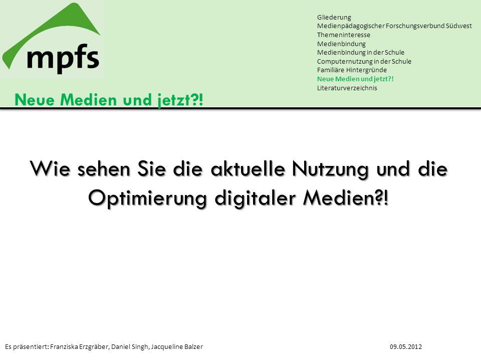 Gliederung Medienpädagogischer Forschungsverbund Südwest. Themeninteresse. Medienbindung. Medienbindung in der Schule.