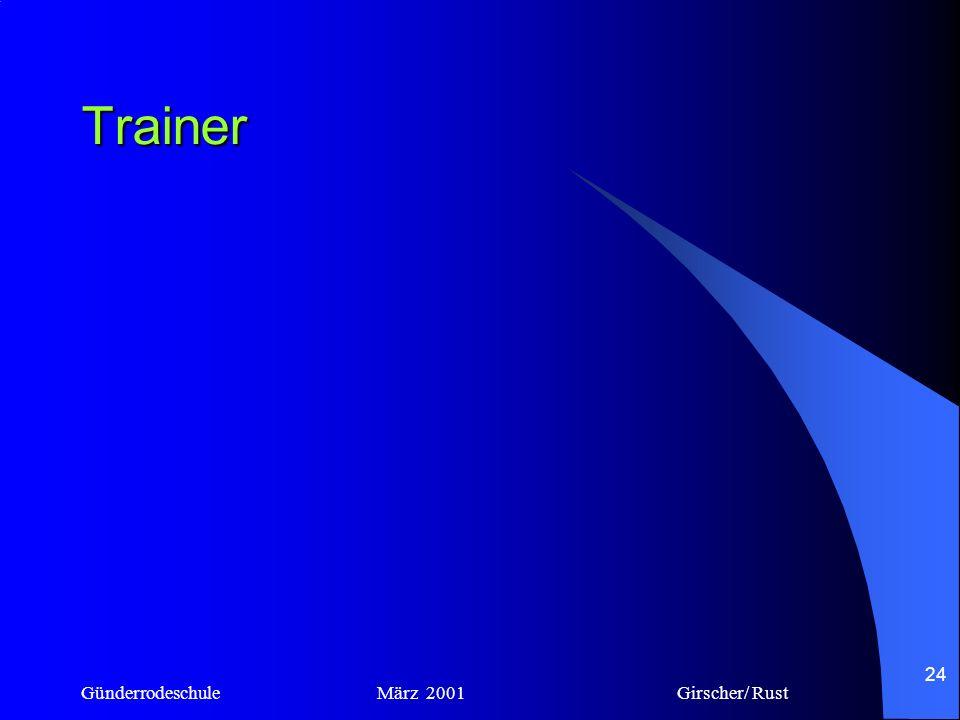 Trainer Günderrodeschule März 2001 Girscher/ Rust.