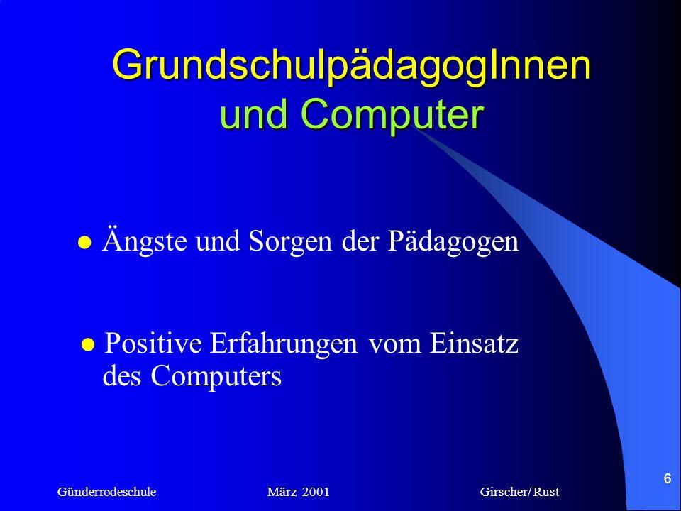 GrundschulpädagogInnen und Computer