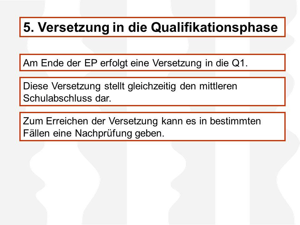 5. Versetzung in die Qualifikationsphase