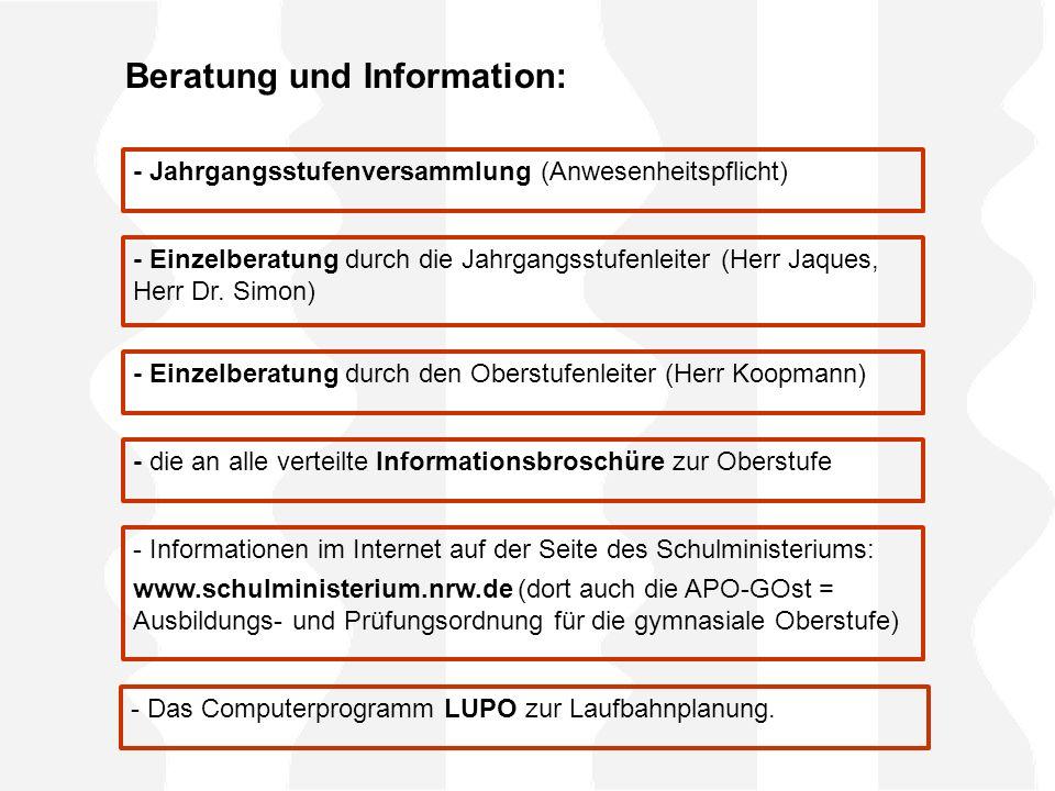 Beratung und Information: