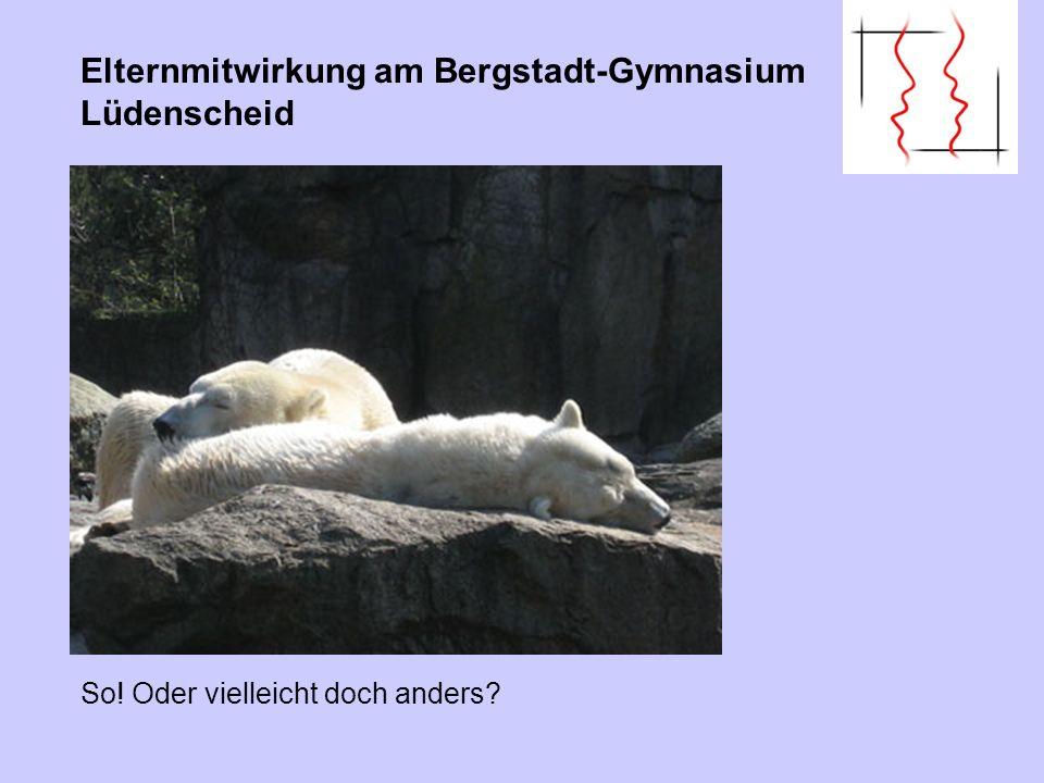 Elternmitwirkung am Bergstadt-Gymnasium Lüdenscheid
