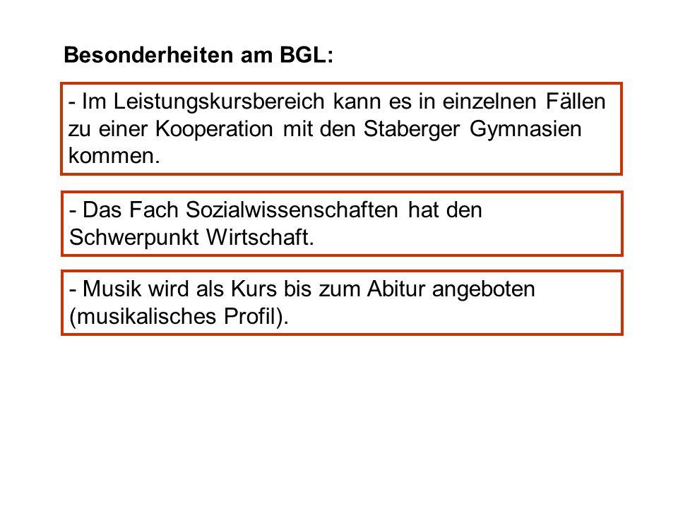 Besonderheiten am BGL: