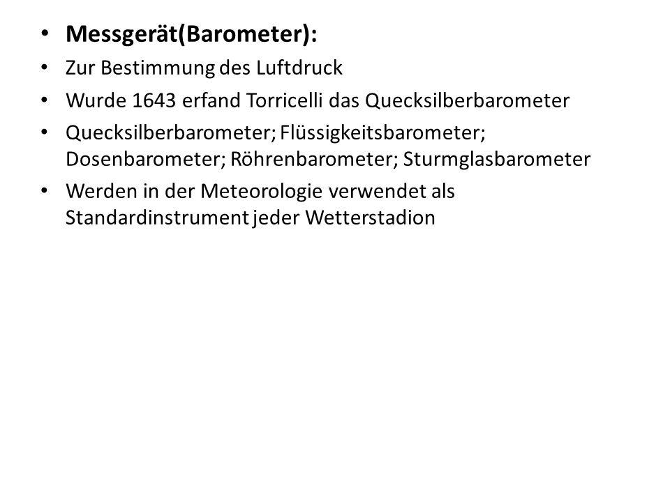 Messgerät(Barometer):