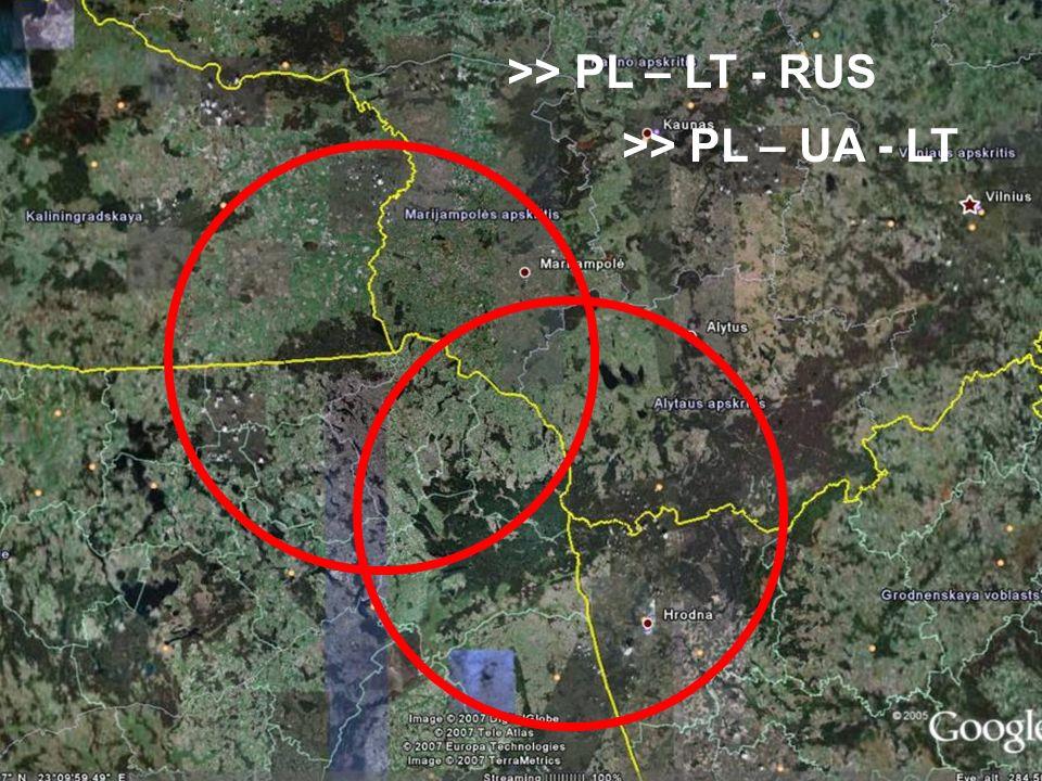>> PL – LT - RUS >> PL – UA - LT