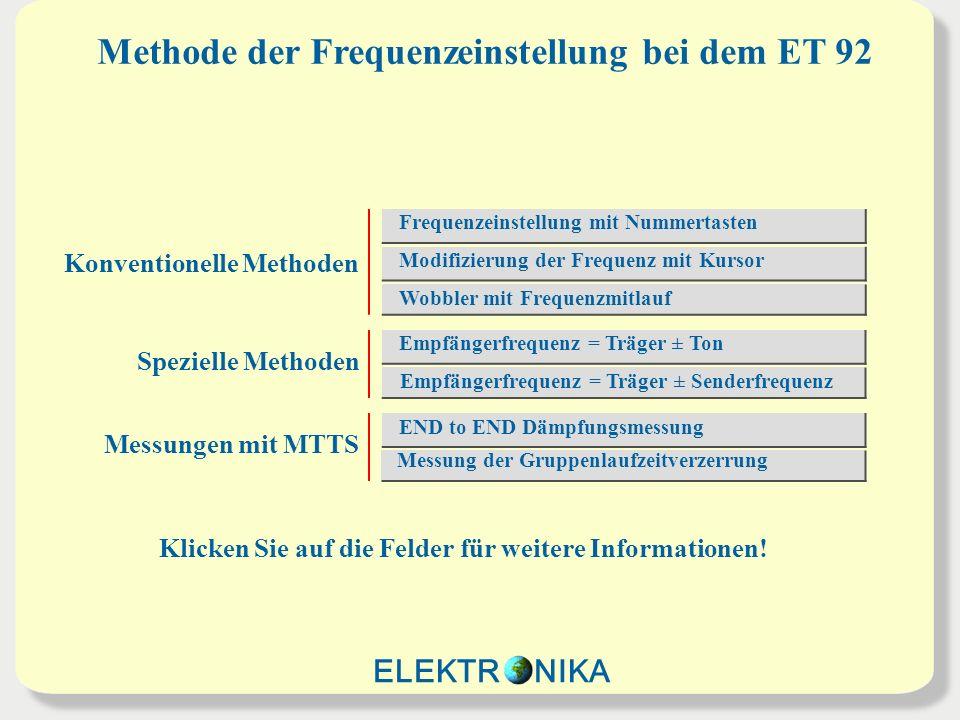 Methode der Frequenzeinstellung bei dem ET 92