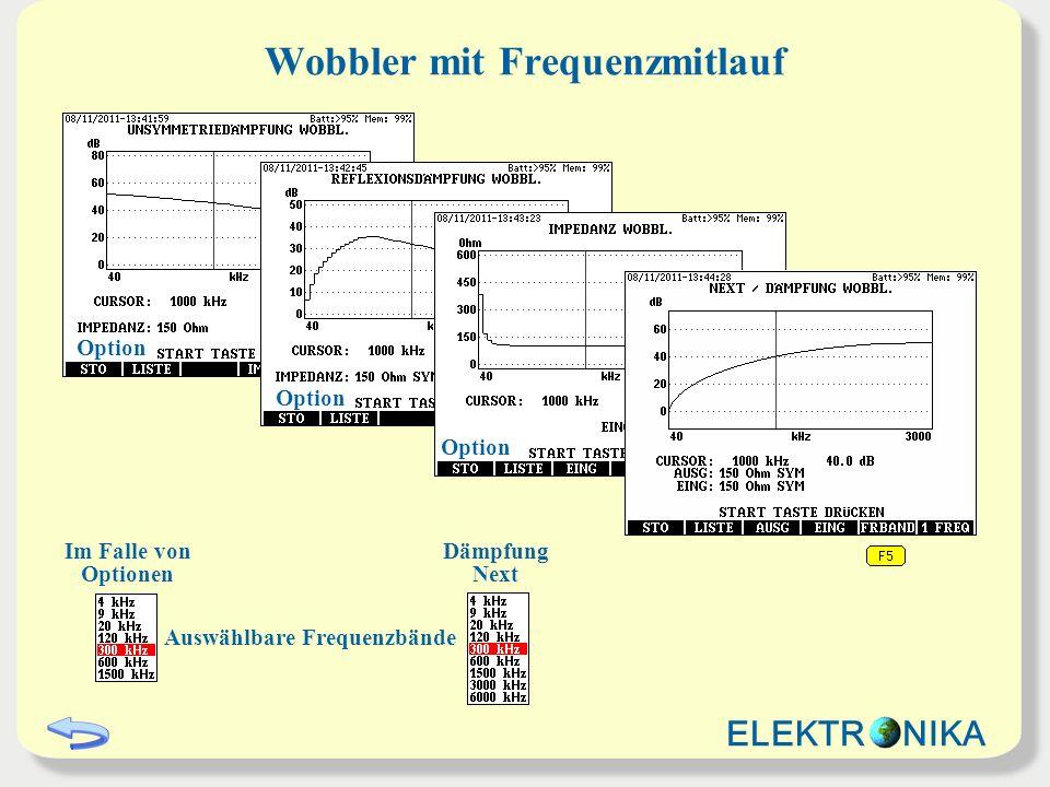 Wobbler mit Frequenzmitlauf