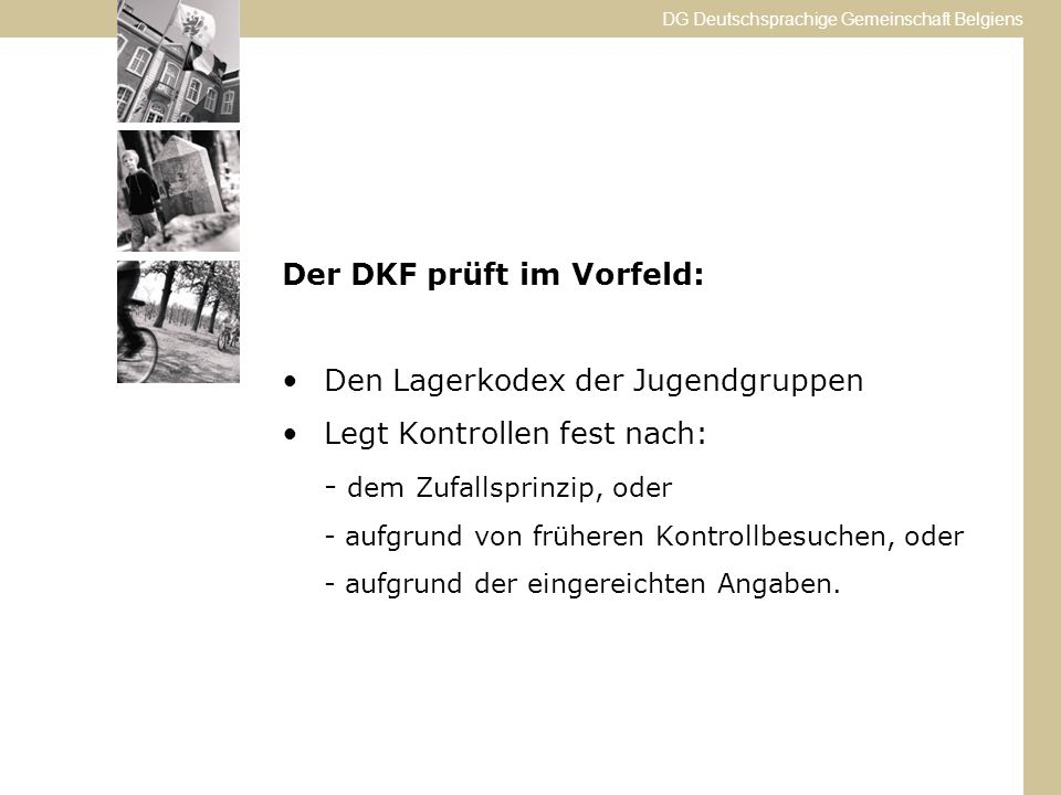 Der DKF prüft im Vorfeld: