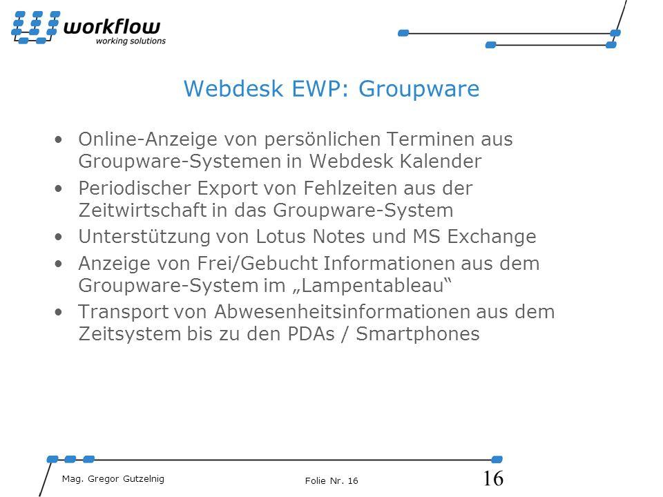 Webdesk EWP: Groupware