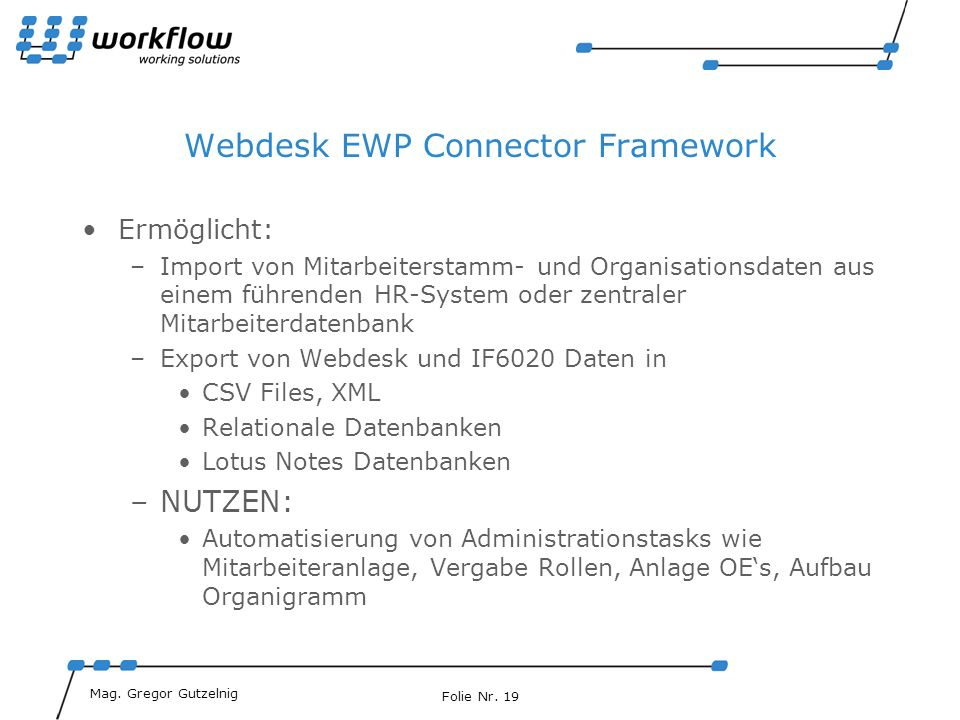 Webdesk EWP Connector Framework