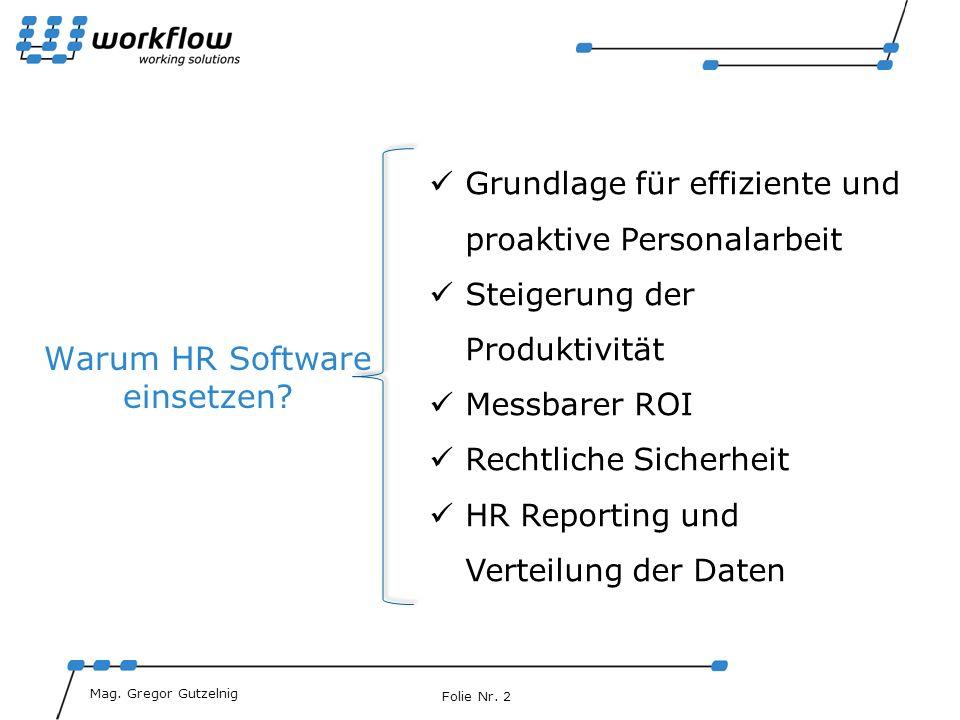 Warum HR Software einsetzen