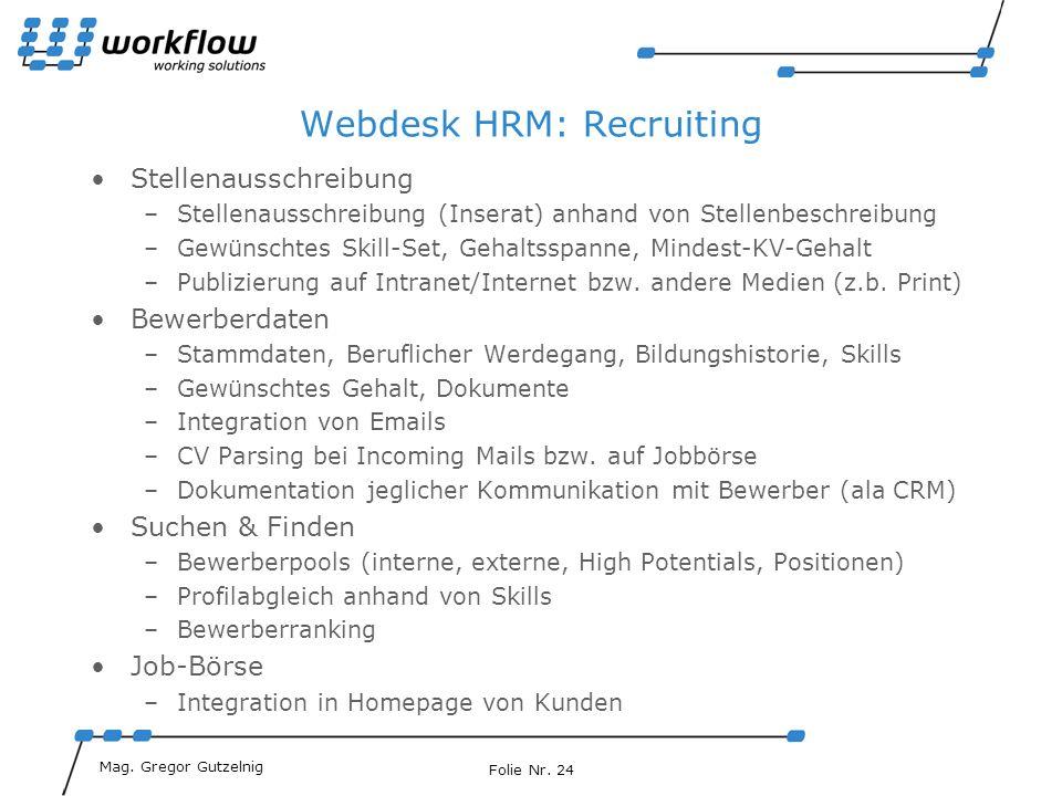 Webdesk HRM: Recruiting