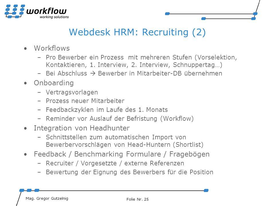 Webdesk HRM: Recruiting (2)
