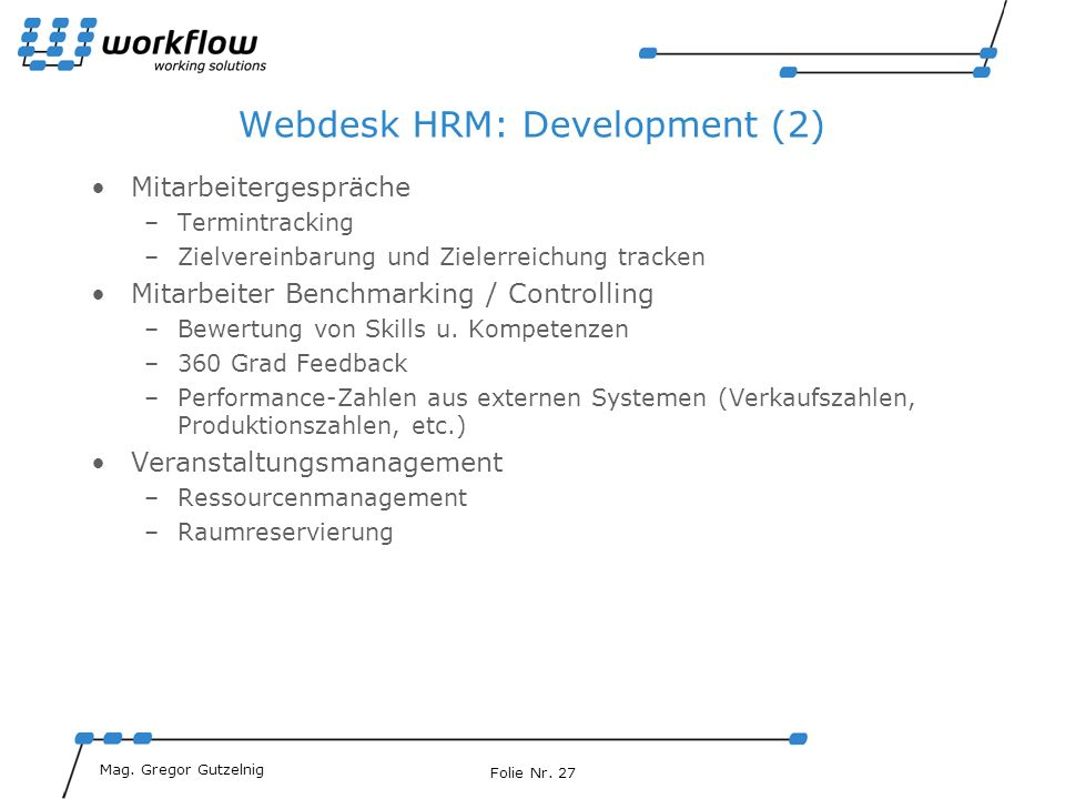 Webdesk HRM: Development (2)