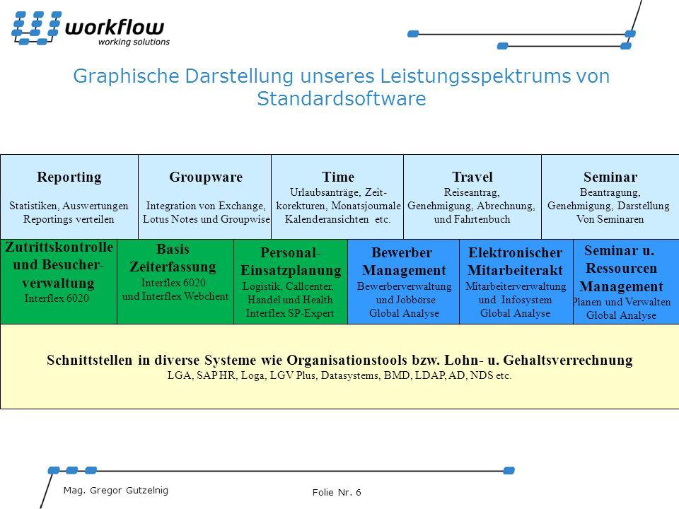 Graphische Darstellung unseres Leistungsspektrums von Standardsoftware