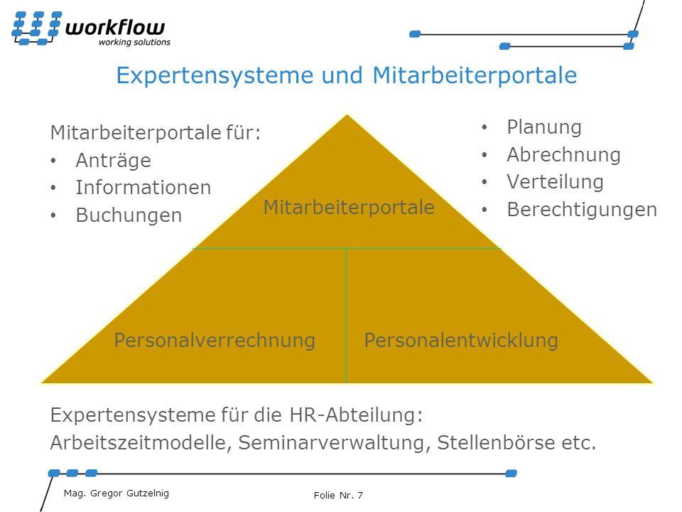 Expertensysteme und Mitarbeiterportale