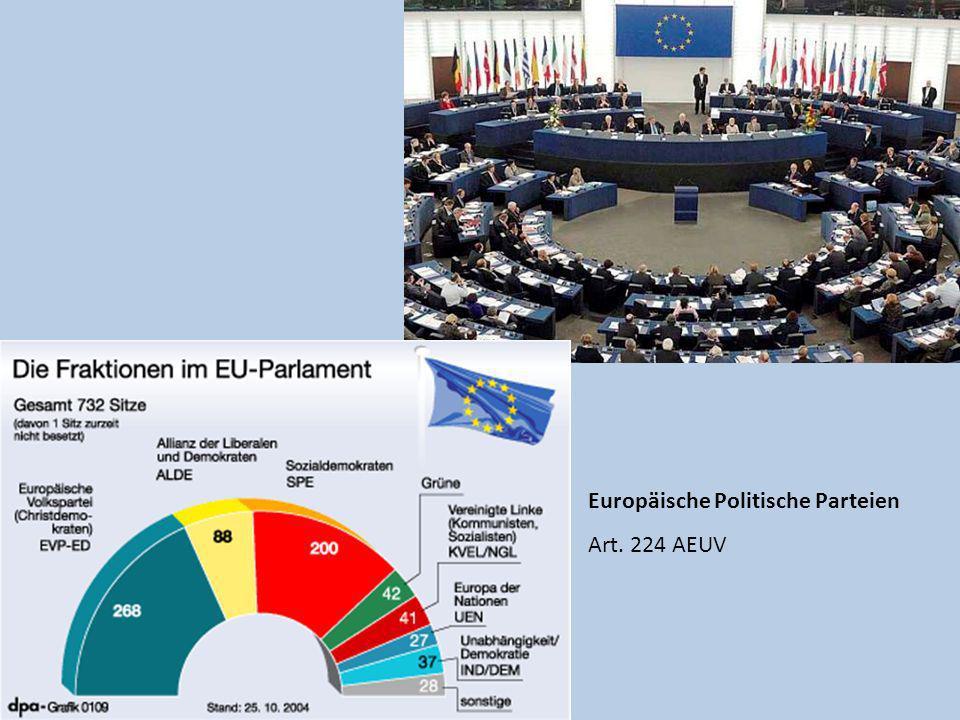 Europäische Politische Parteien Art. 224 AEUV