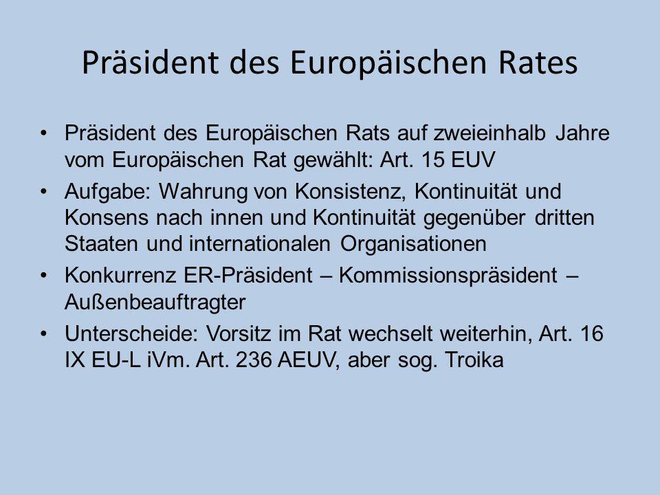 Präsident des Europäischen Rates