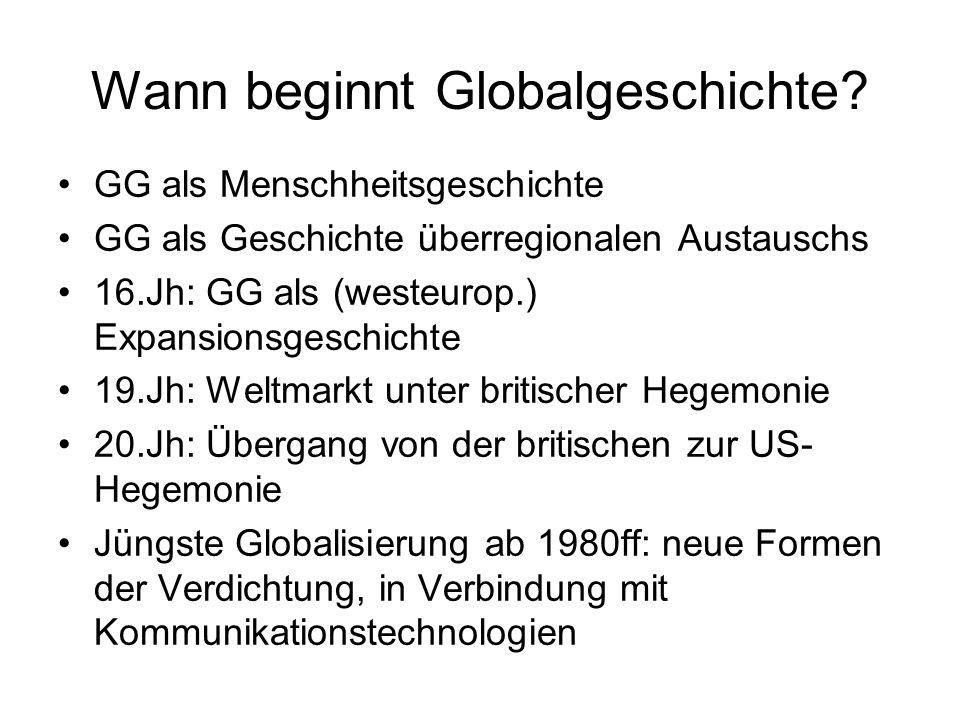 Wann beginnt Globalgeschichte