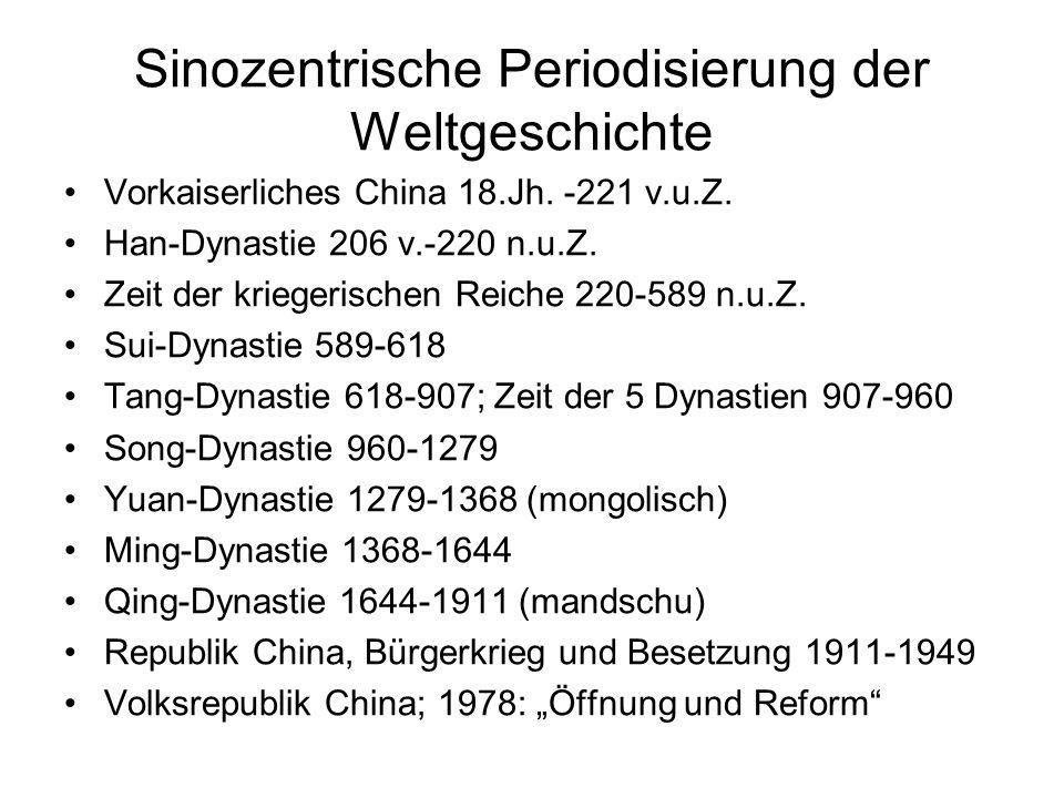 Sinozentrische Periodisierung der Weltgeschichte