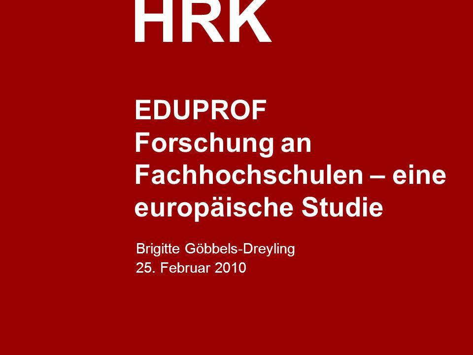 EDUPROF Forschung an Fachhochschulen – eine europäische Studie