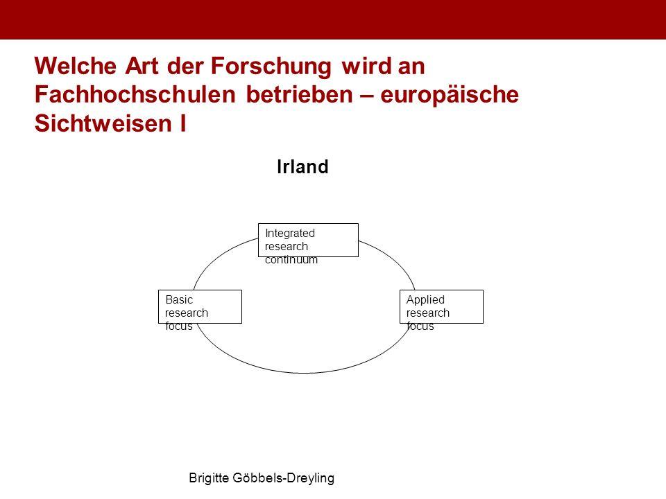 Welche Art der Forschung wird an Fachhochschulen betrieben – europäische Sichtweisen I