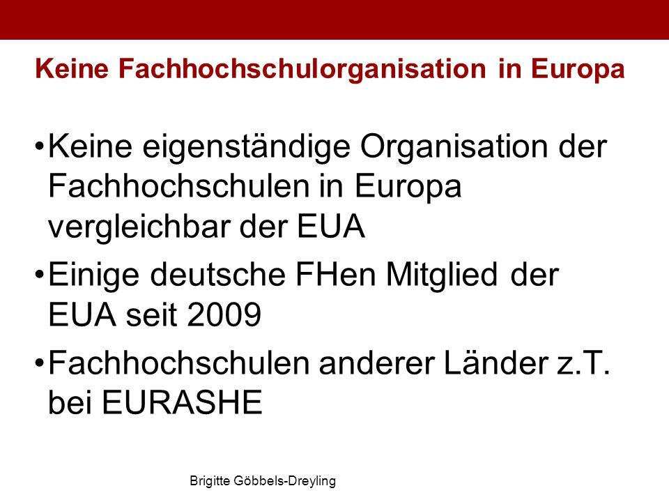 Keine Fachhochschulorganisation in Europa