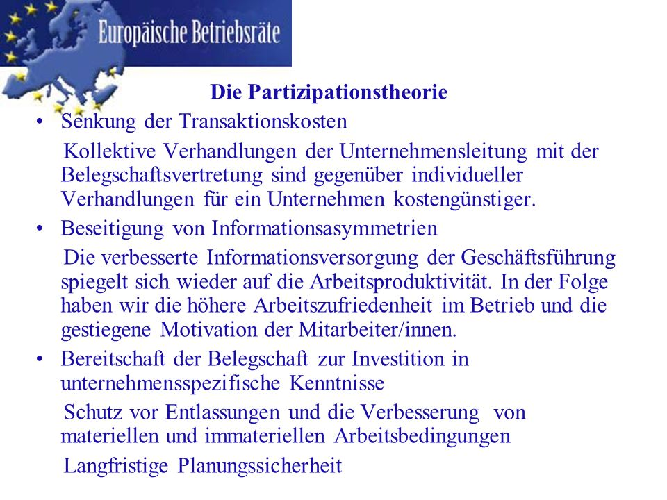Die Partizipationstheorie