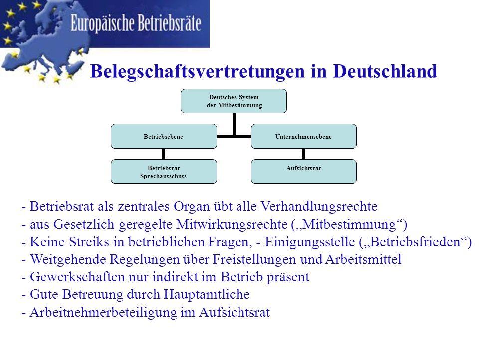 Belegschaftsvertretungen in Deutschland