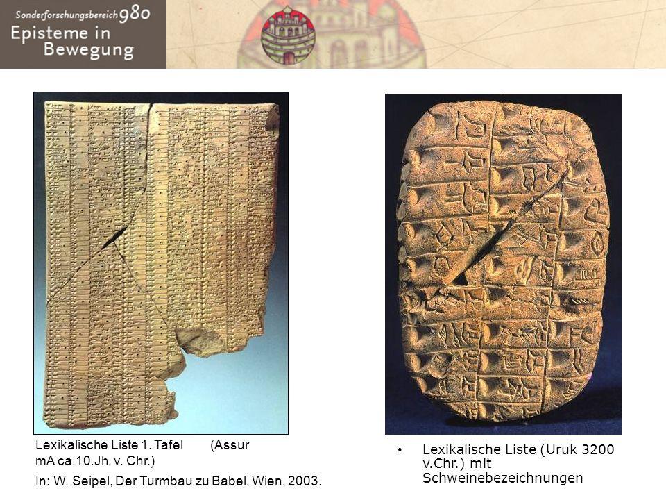 Lexikalische Liste 1. Tafel (Assur mA ca.10.Jh. v. Chr.)