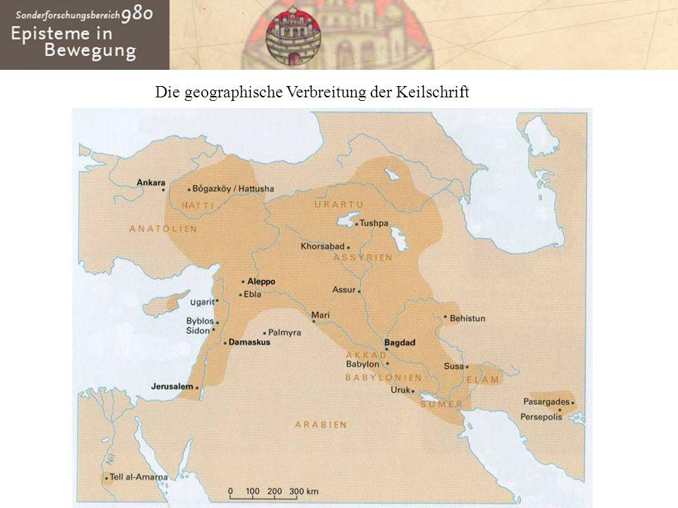 Die geographische Verbreitung der Keilschrift