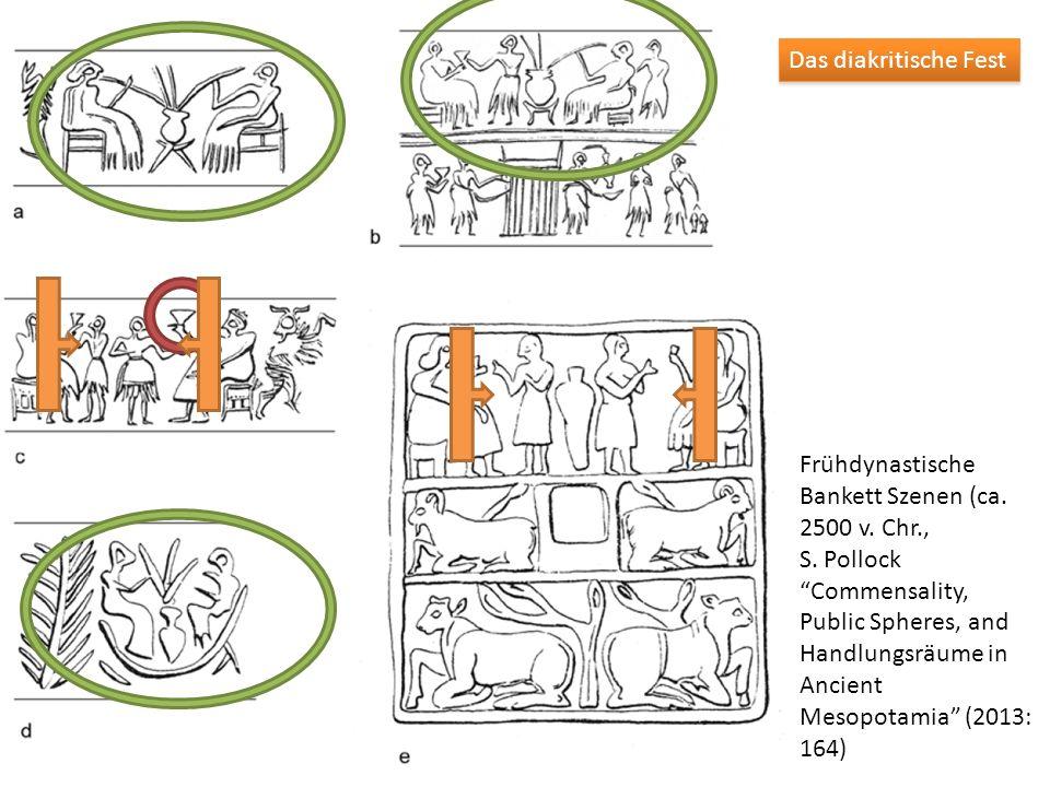 Das diakritische Fest Frühdynastische Bankett Szenen (ca. 2500 v. Chr.,
