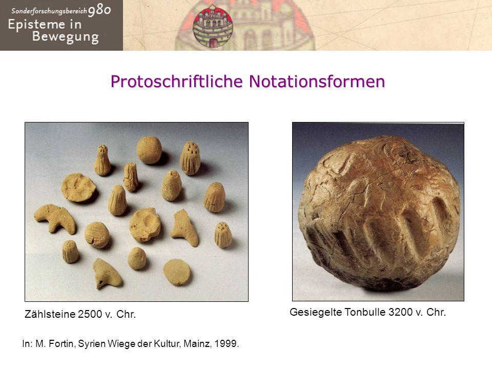Protoschriftliche Notationsformen