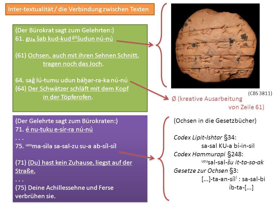 Inter-textualität / die Verbindung zwischen Texten