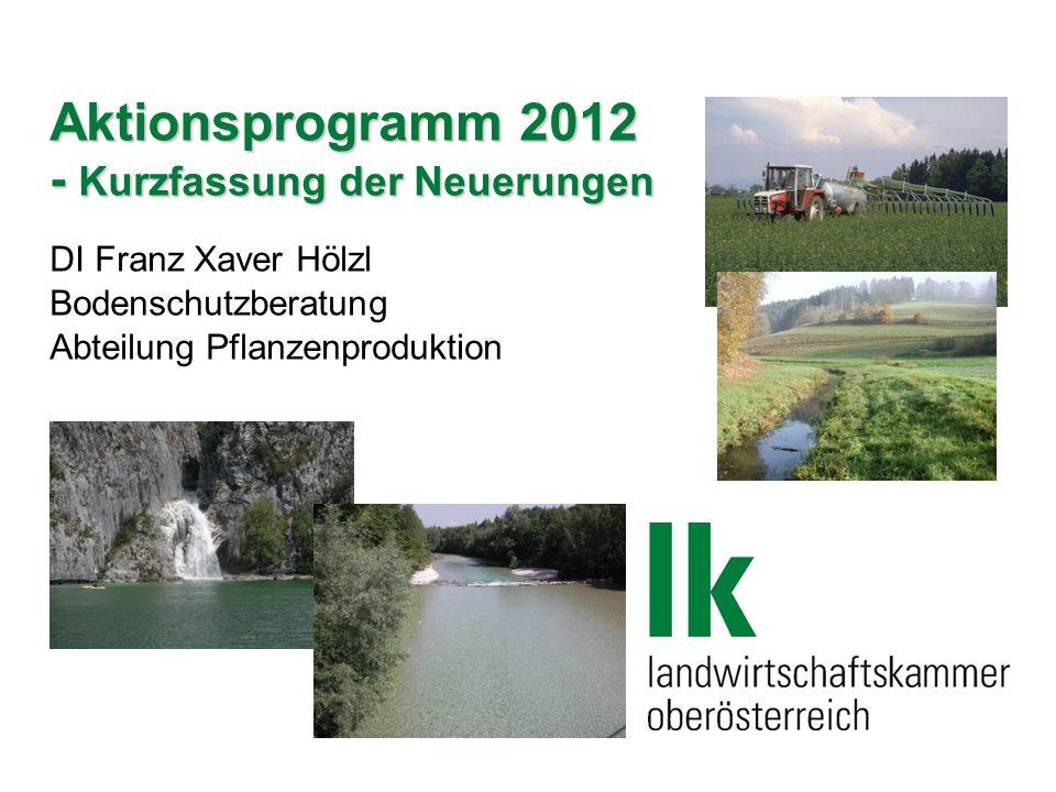 Aktionsprogramm 2012 - Kurzfassung der Neuerungen