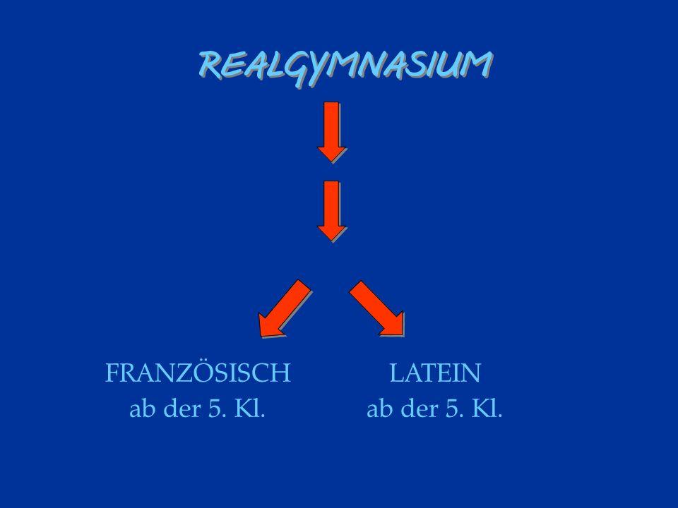 REALGYMNASIUM FRANZÖSISCH ab der 5. Kl. LATEIN ab der 5. Kl.