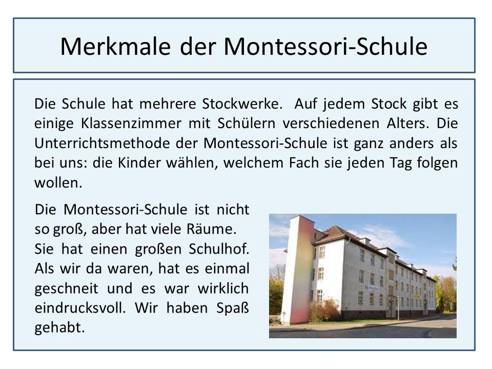 Merkmale der Montessori-Schule